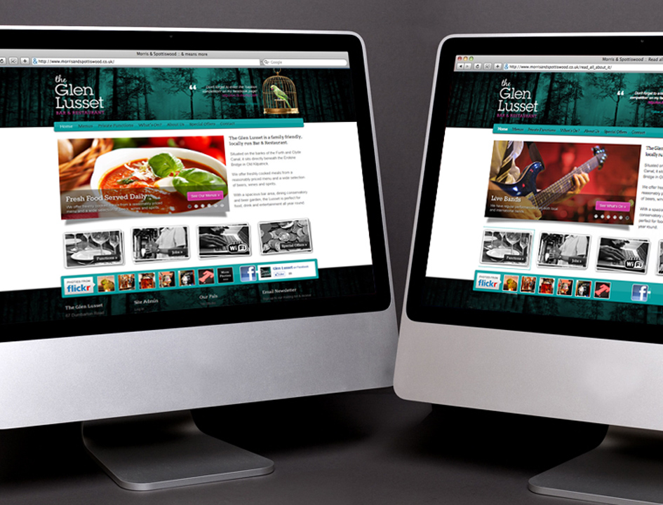 Glen Lusset web design