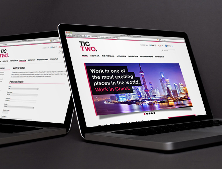 Tic Two Internships - website